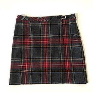 Pendleton Petite Virgin Wool Plaid Pencil Skirt